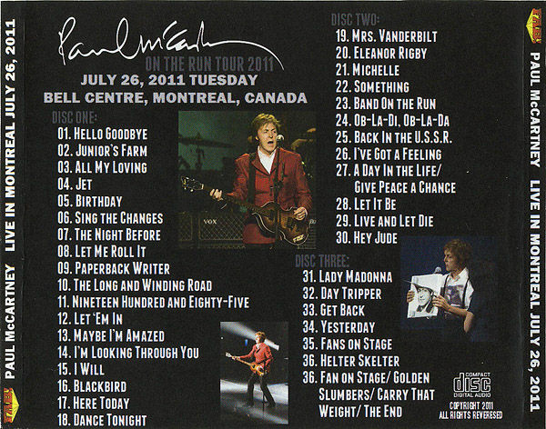On The Run In Montreal Unofficial Live By Paul Mccartney The