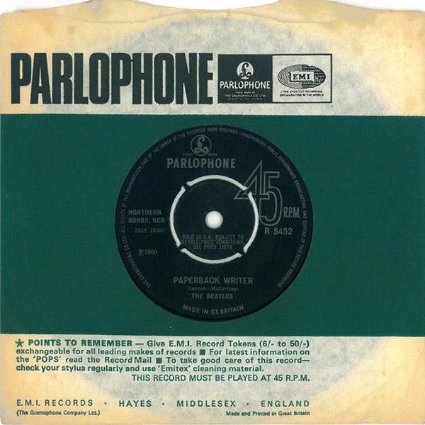 The Beatles Paperback Writer : paperback writer rain 7 single by the beatles the paul mccartney project ~ Vivirlamusica.com Haus und Dekorationen