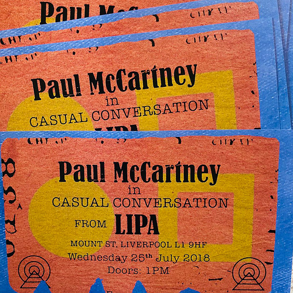 Paul McCartney in Casual Conversation from LIPA (concert