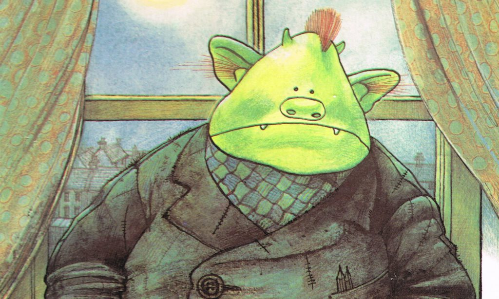 Fungus the Bogeyman as featured on the cover of the original Raymond Briggs children's book.