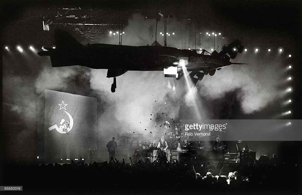 Paul McCartney, The Plane during the Song : Back in the U.S.S.R. The Paul McCartney World Tour, Ahoy, Rotterdam, 11-11-1989, Foto Rob Verhorst