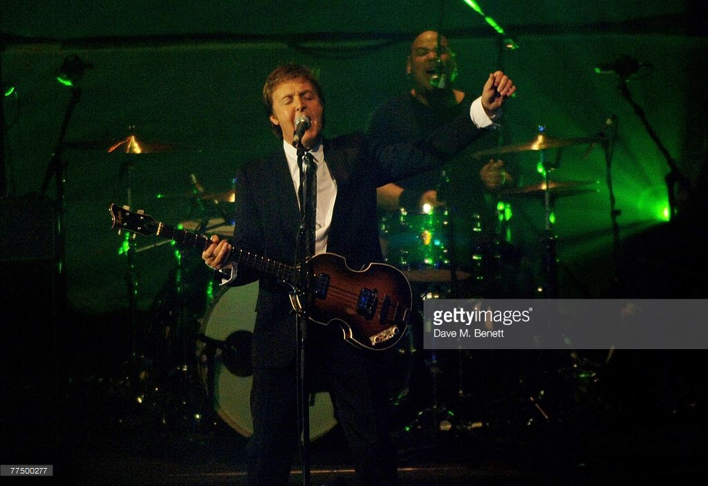 Sir Paul McCartney performs during the BBC Electric Proms, at the Roundhouse on October 25, 2007 in London, England.
