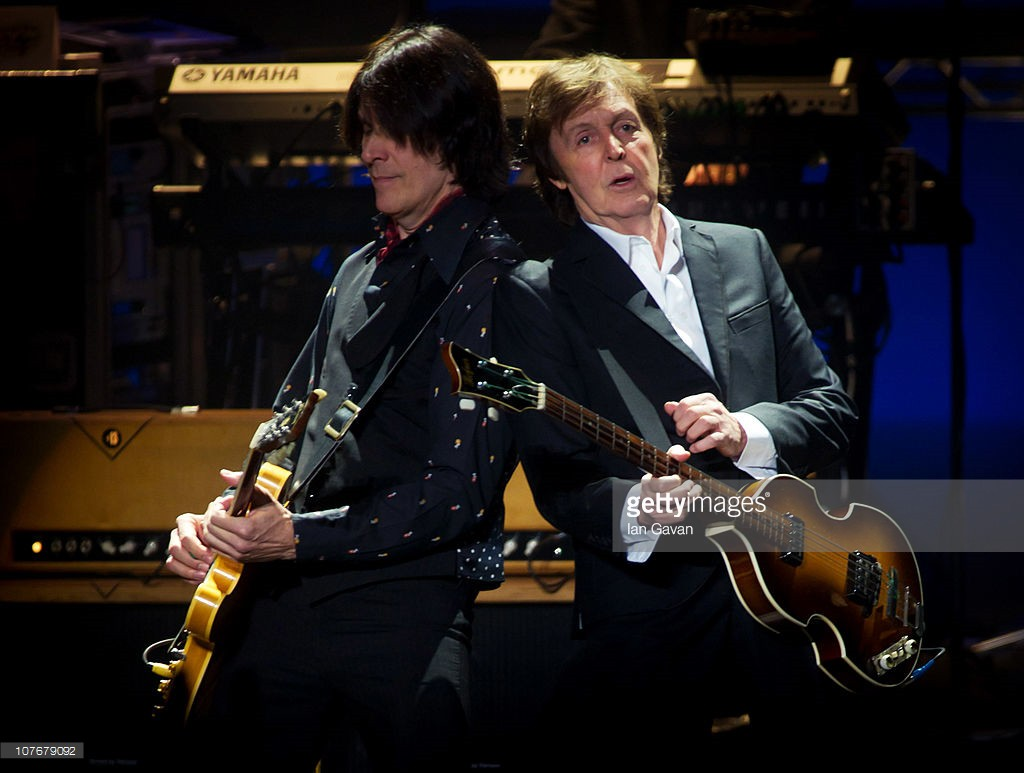 Sir Paul McCartney performs live at at the Hammersmith Apollo on December 18, 2010 in London, England.