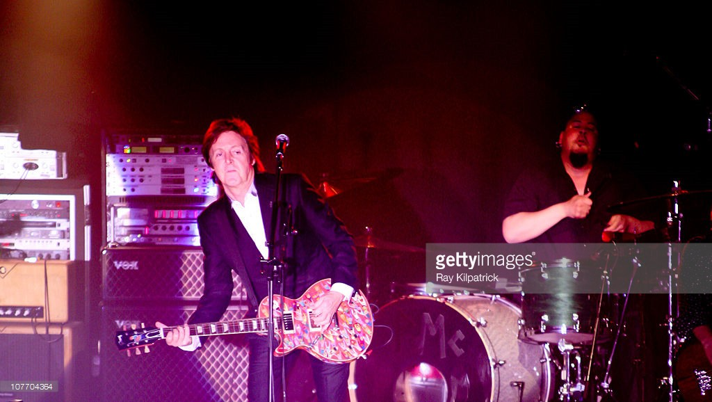 Paul McCartney performs on stage at O2 Academy on December 20, 2010 in Liverpool, England.
