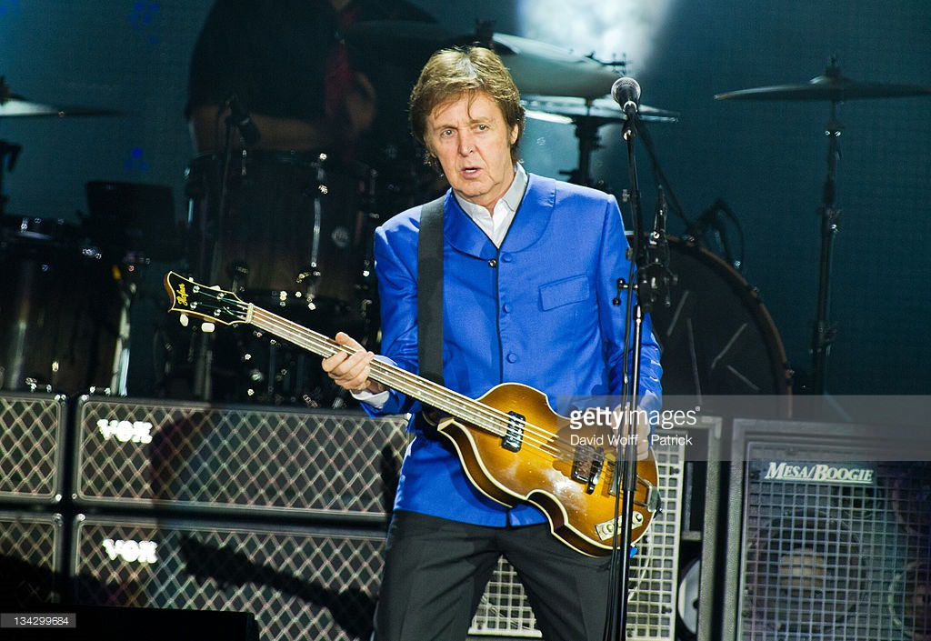 Paul McCartney performs at Palais Omnisports de Bercy on November 30, 2011 in Paris, France.