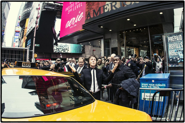 Paul McCartney at performs at the TImes Square
