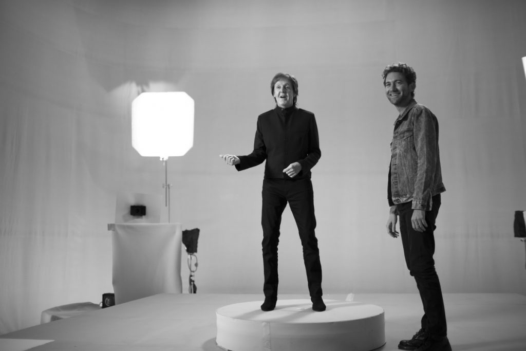 Paul on the set of 'Hope For The Future' music video with director Daniel Askill