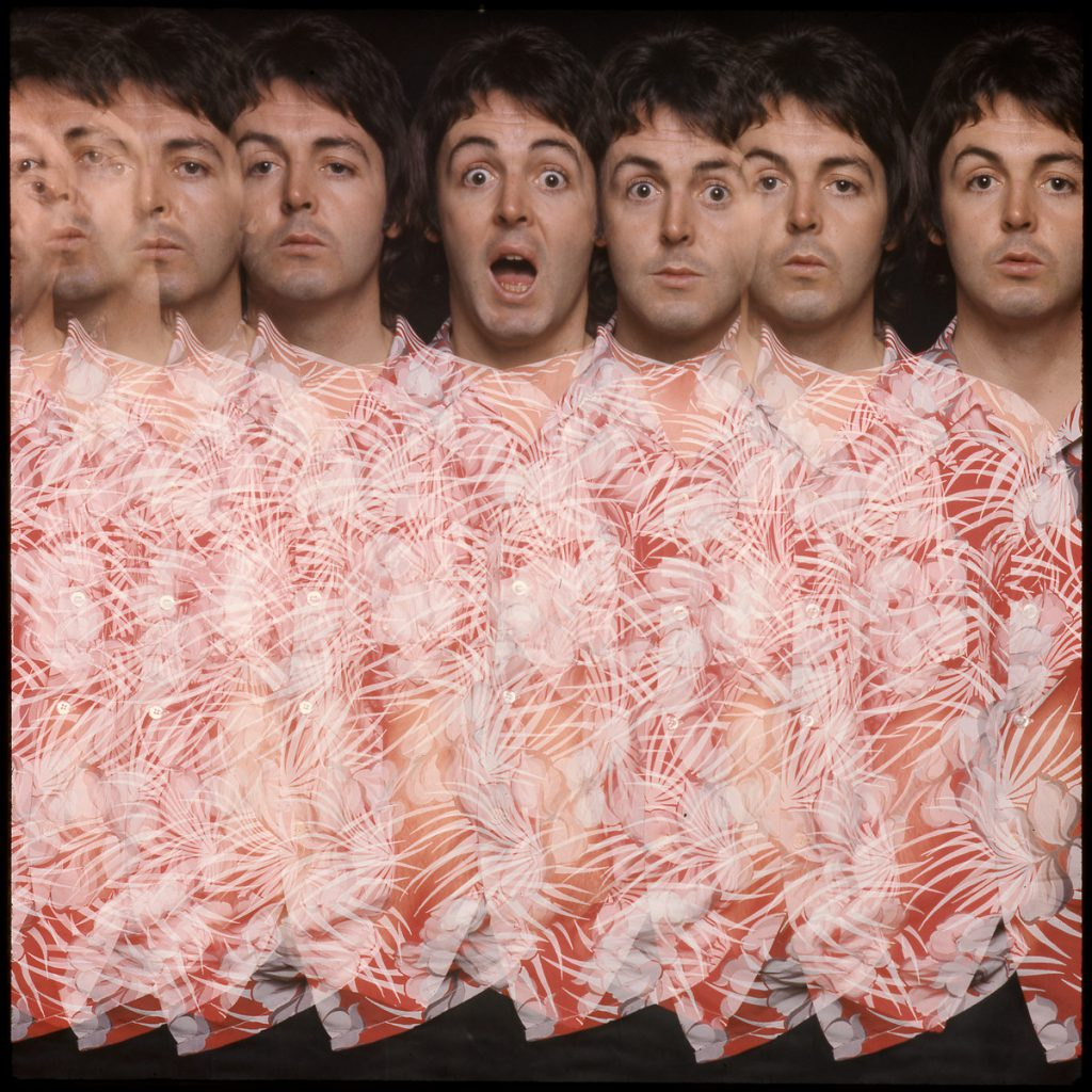 Paul from the 'Wings At The Speed Of Sound' album artwork. Taken by Clive Arrowsmith