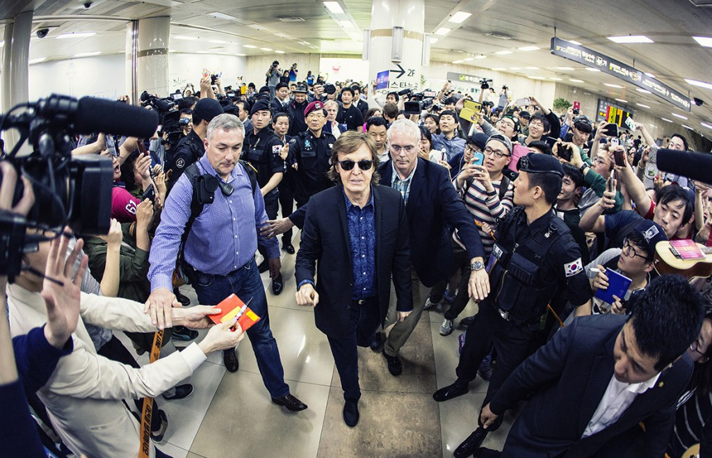 Arriving at Seoul for the first time, May - from paulmccartney.com