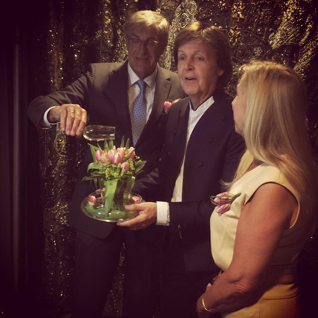 From Twitter: Christening my very own Paul McCartney tulip backstage at the Ziggo Dome in Amsterdam #OutThere