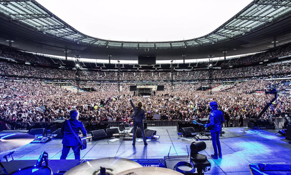 From Twitter: Merci Paris! A rocking night at the Stade de France!