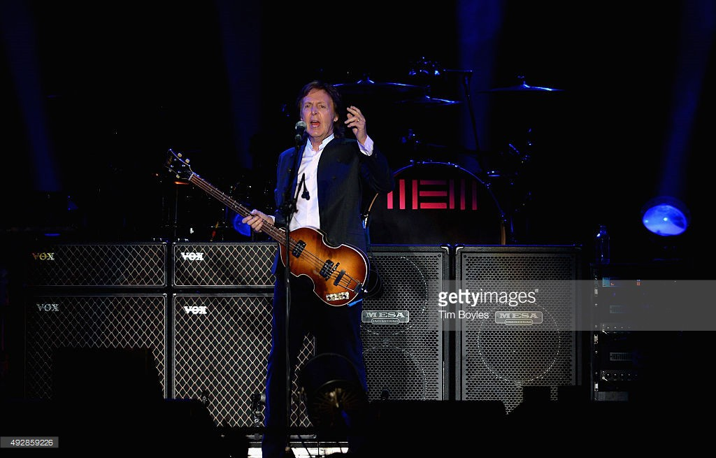 Paul McCartney performs in concert at Bryce Jordan Center on October 15, 2015 in University Park, Pennsylvania.