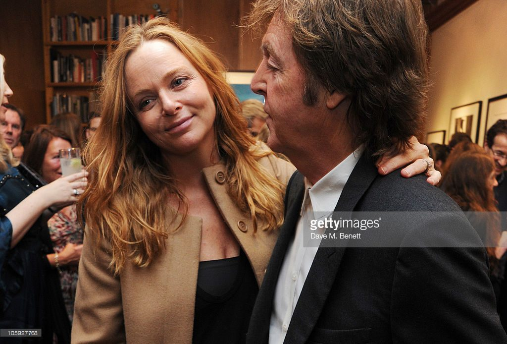 Stella McCartney (L) and Sir Paul McCartney attend the launch party for Mary McCartney's new book 'Mary McCartney: From Where I Stand' at Michael Hoppen Gallery on October 21, 2010 in London, England.