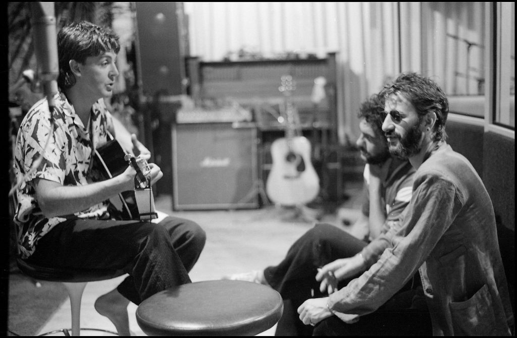 From Twitter - Paul and @ringostarrmusic at AIR Studios, Montserrat. Photo by Linda McCartney #ThrowbackThursday #TBT