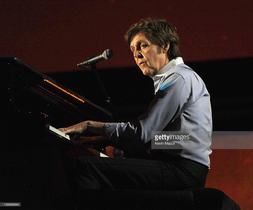 Sir Paul McCartney performs onstage at The 54th Annual GRAMMY Awards at Staples Center on February 12, 2012 in Los Angeles, California.