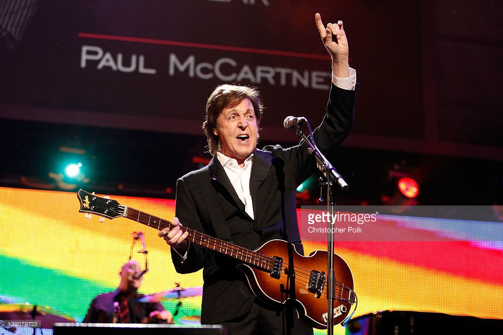 Honoree Sir Paul McCartney performs onstage at The 2012 MusiCares Person of The Year Gala Honoring Paul McCartney at Los Angeles Convention Center on February 10, 2012 in Los Angeles, California.