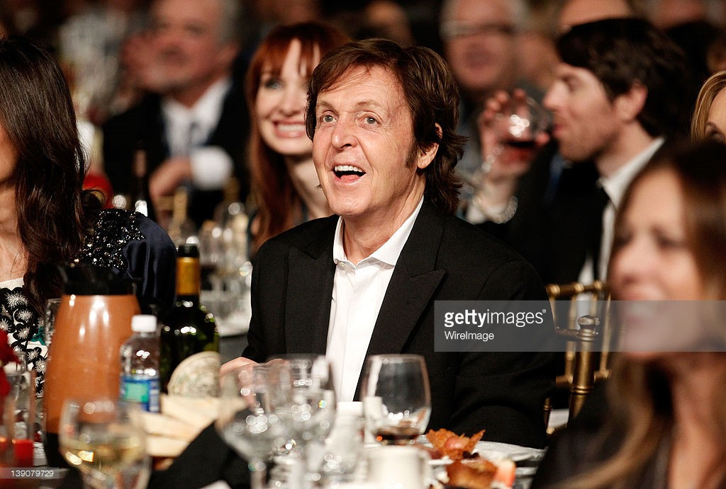 Honoree Sir Paul McCartney attends The 2012 MusiCares Person of The Year Gala Honoring Paul McCartney at Los Angeles Convention Center on February 10, 2012 in Los Angeles, California.