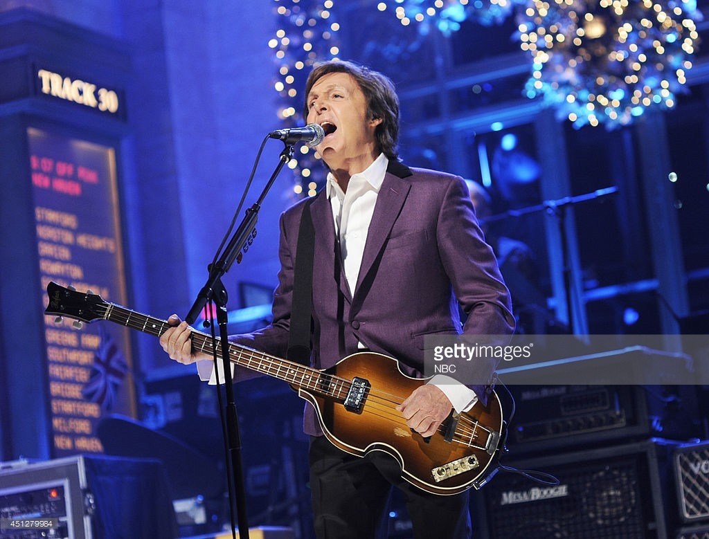 "SATURDAY NIGHT LIVE -- Episode 1585 ""Paul Rudd"" -- Pictured: Musical guest Paul McCartney performs -- (Photo by: Dana Edelson/NBC/NBCU Photo Bank)"