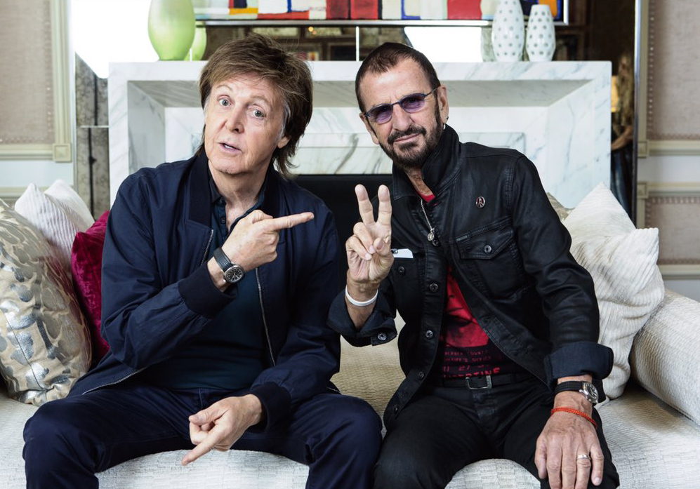 From Twitter - All you need is Love and Peace #BeatlesLOVE 10th anniversary