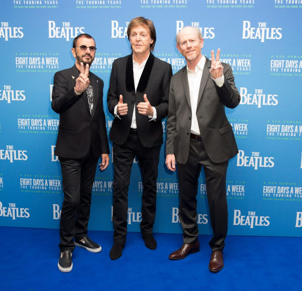 Paul, Ringo & Ron Howard at the World Premiere of The Beatles: Eight Days A Week - The Touring Years. - From The Beatles Official Facebook Page