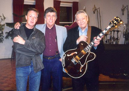 Paul McCartney, D.J. Fontana & Scotty Moore