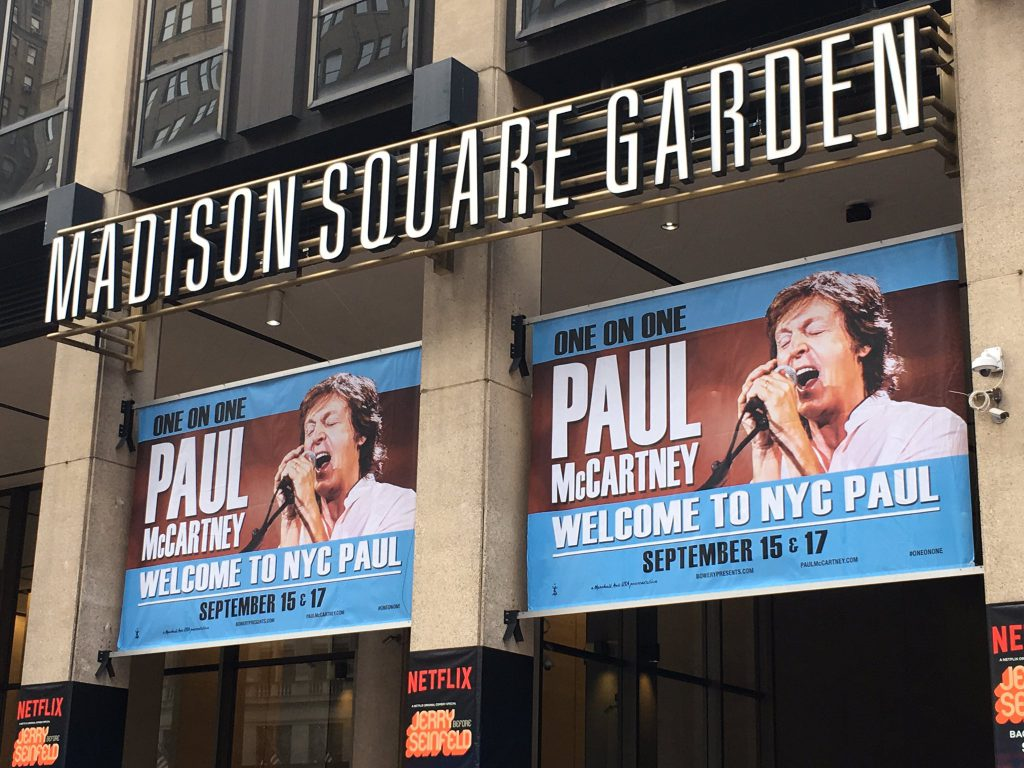 Paul Mccartney Concert At Madison Square Garden In New York On Sep 17 2017 The Paul Mccartney